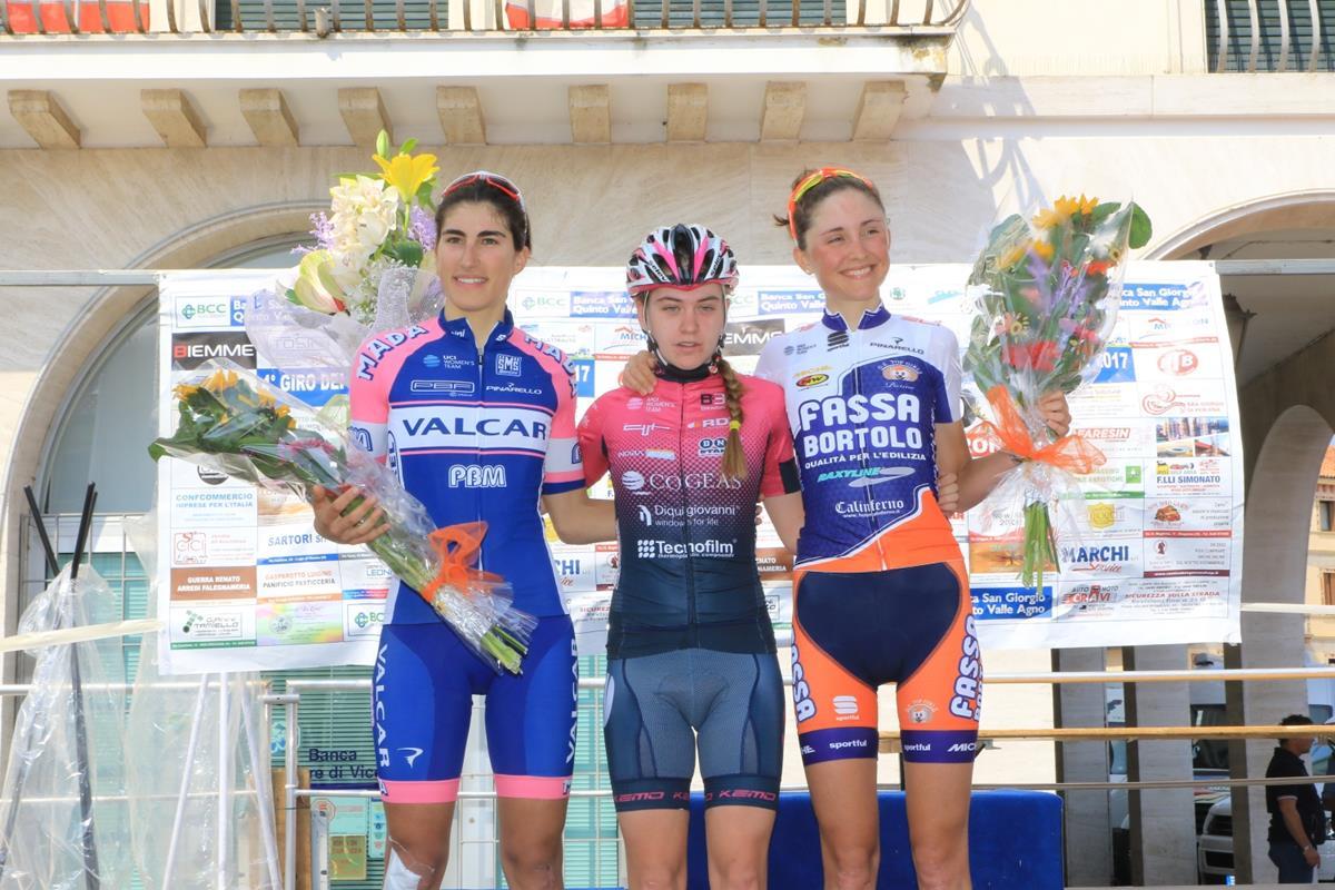 Il podio del 3° Memorial Franco Basso di Breganze