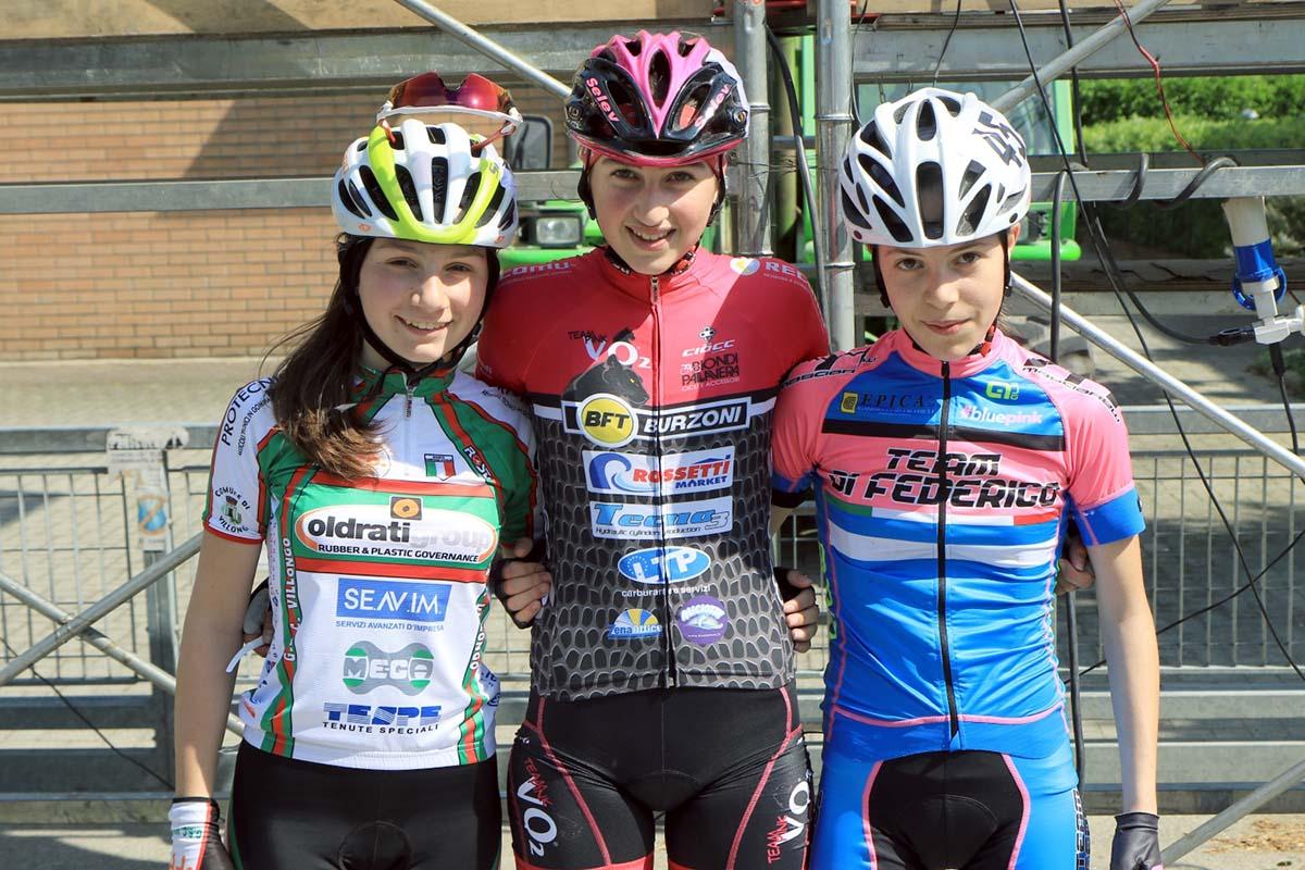Il podio Donne Esordienti 1° anno di Bianconese (