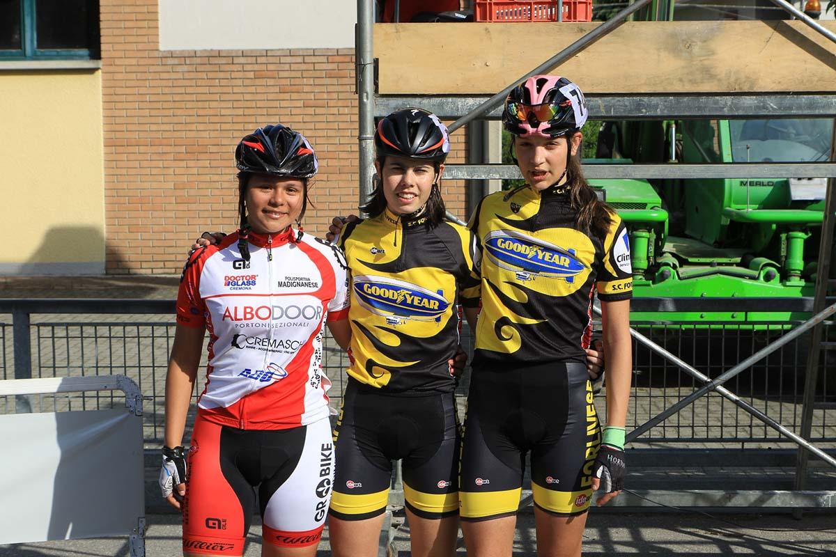 Il podio Donne Esordienti 2° anno di Bianconese