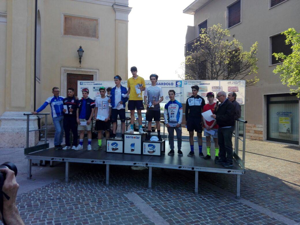 Il podio della gara Allievi di Gandolo
