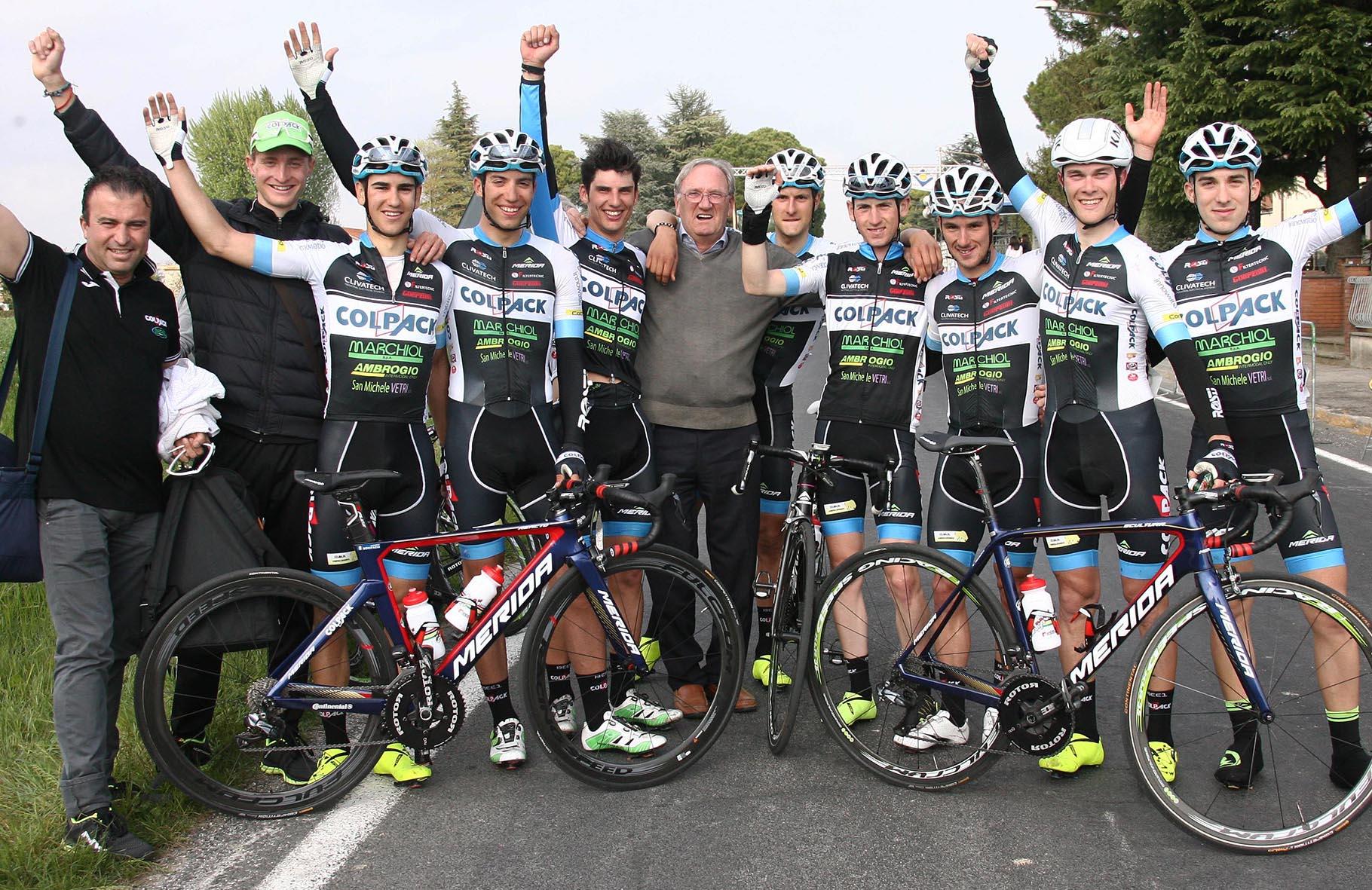 Festa per il presidente Beppe Colleoni e i suoi ragazzi del Team Colpack