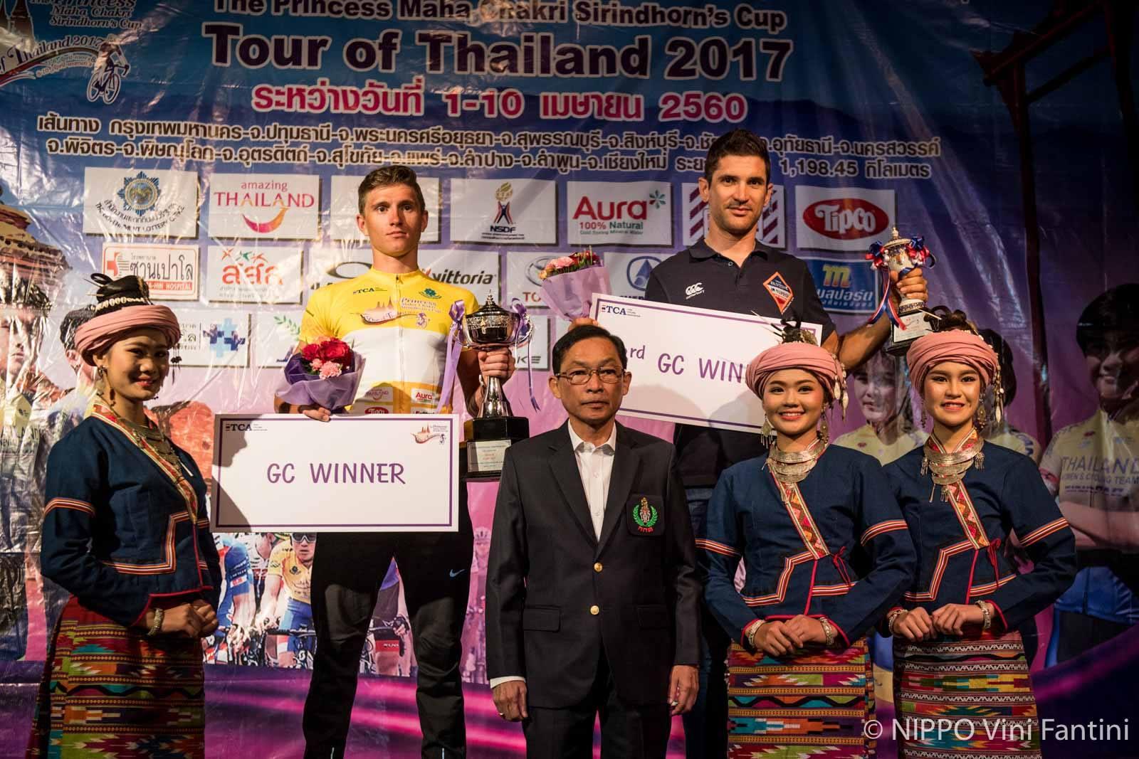 Alan Marangoni sale sul terzo gradino del podio della classifica finale del Tour of Thailand 2017