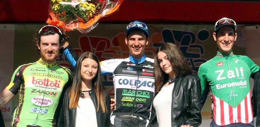 Il podio della 62/a Medaglia d'Oro Frare De Nardi