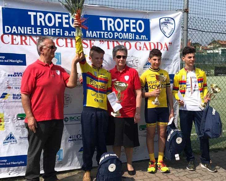 Il podio Esordienti 1° anno di Cernusco Sul Naviglio