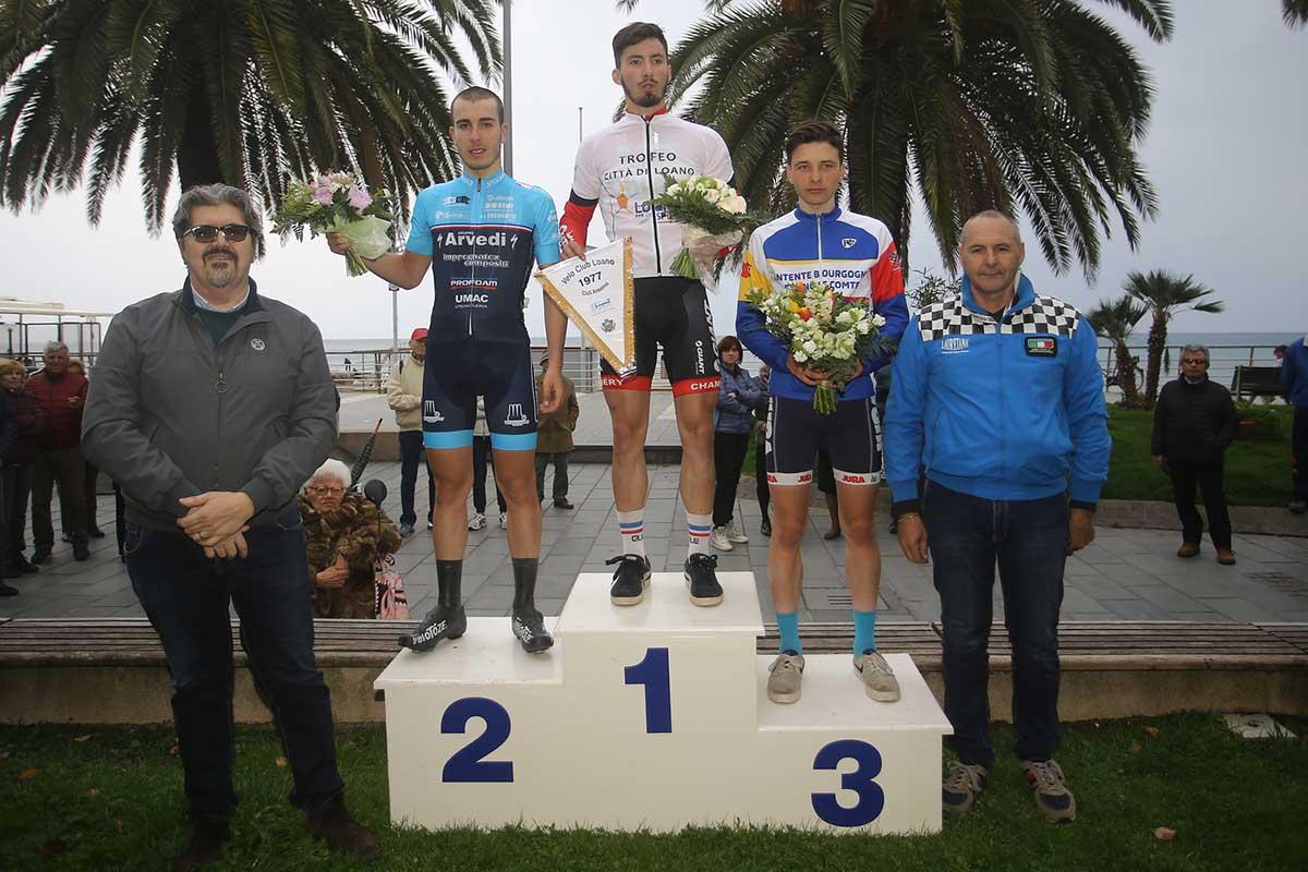 Il podio del Trofeo Città di Loano 2017