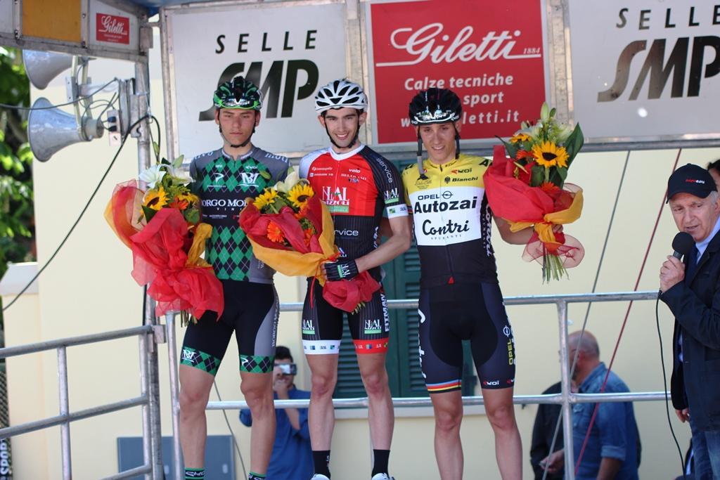 Il podio del 61° Gran Premio Borgo Panigale