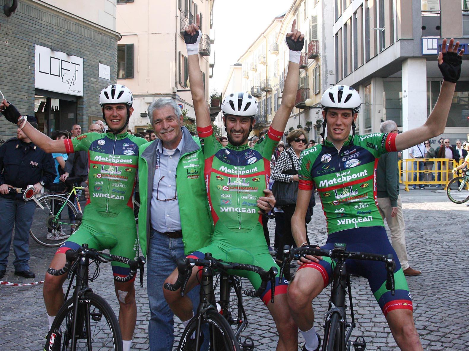 La Viris Maserati festeggia il successo di Luca Raggio al 21° Giro della Provincia di Biella