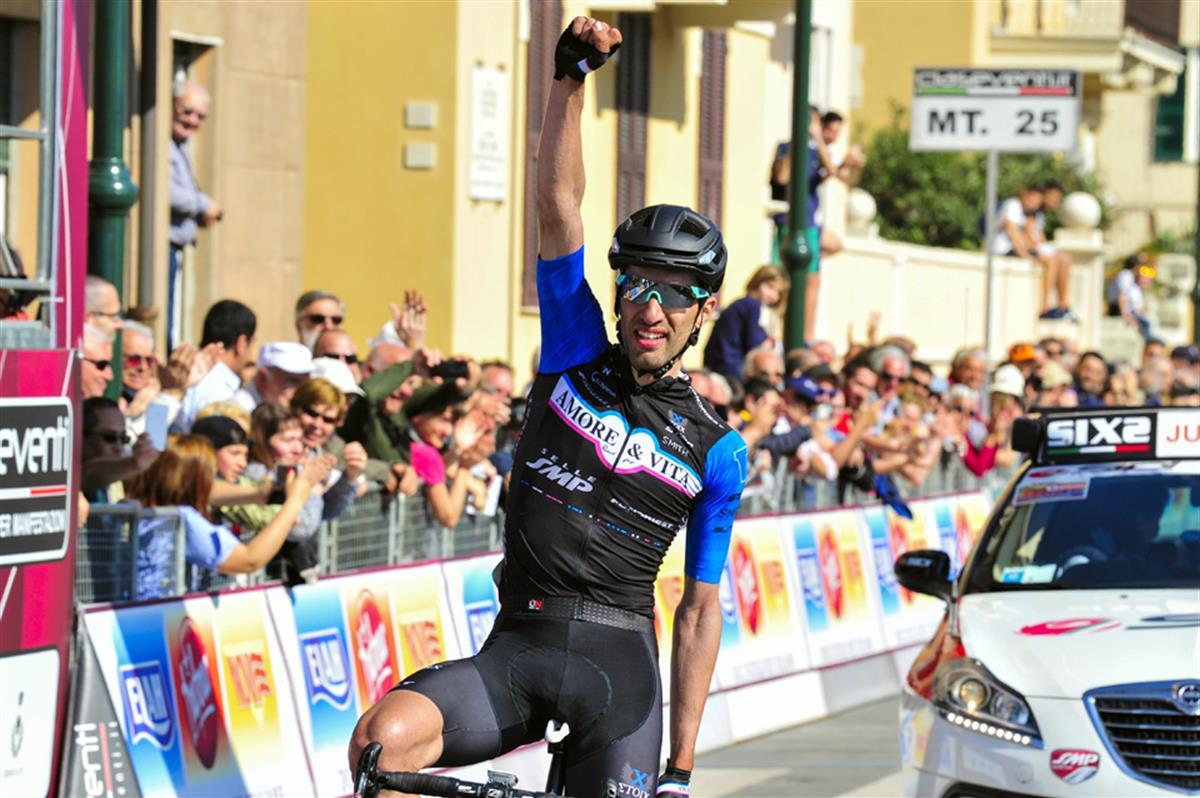 La vittoria di Danilo Celano al Giro dell'Appenino 2017 (foto Dario Belingheri)