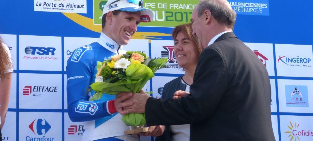 Arnaud Démare vincitore del Grand Prix de Denain 2017