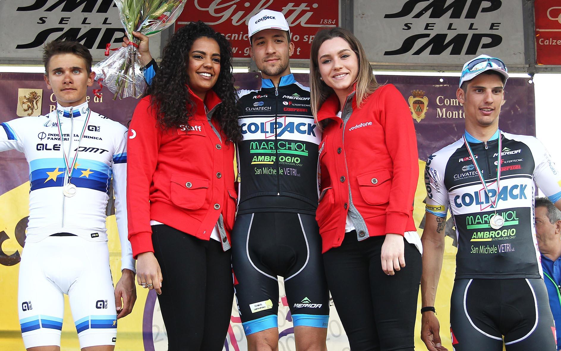 Il podio della 69/a Coppa Comune di Calenzano