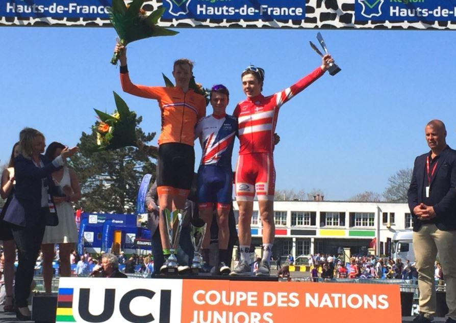 Il podio della Parigi-Roubaix Juniore 2017