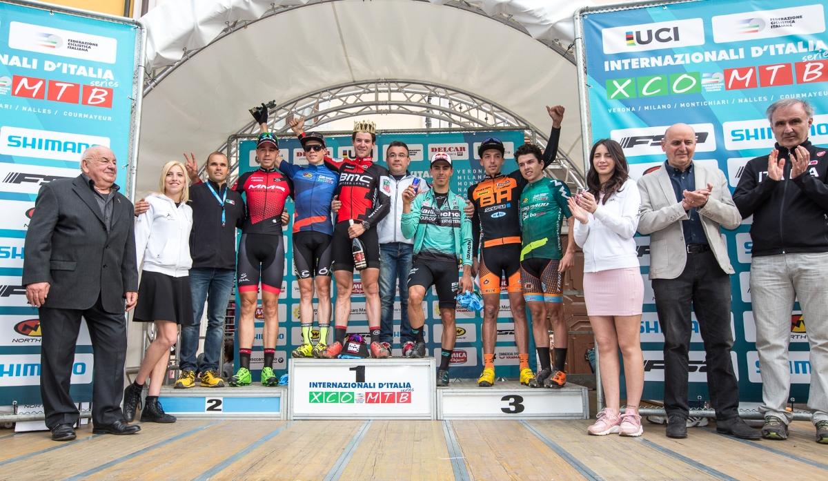 Il podio maschile del Trofeo Delcar 2017