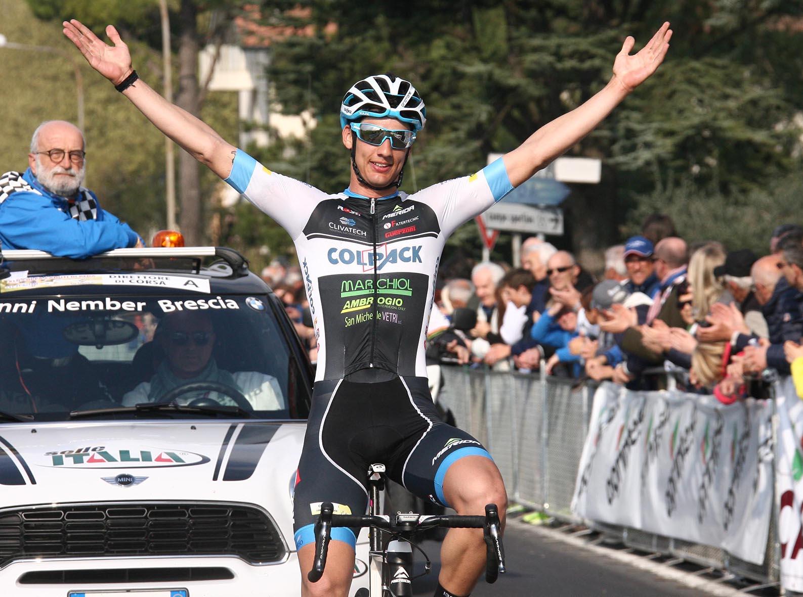 La vittoria di Andrea Toniatti nella 42/a Coppa Caduti di Reda