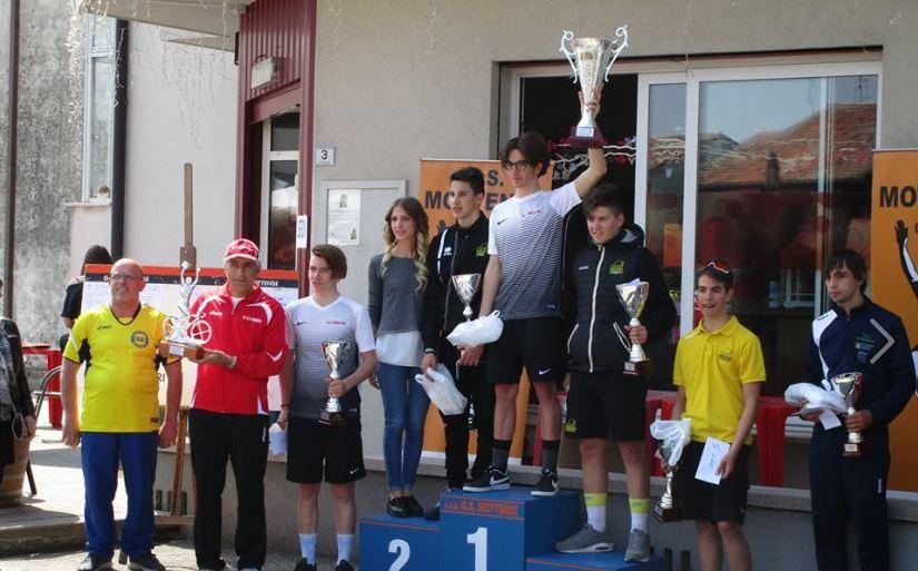Le premiazioni della gara Allievi di Gorgo al Monticano
