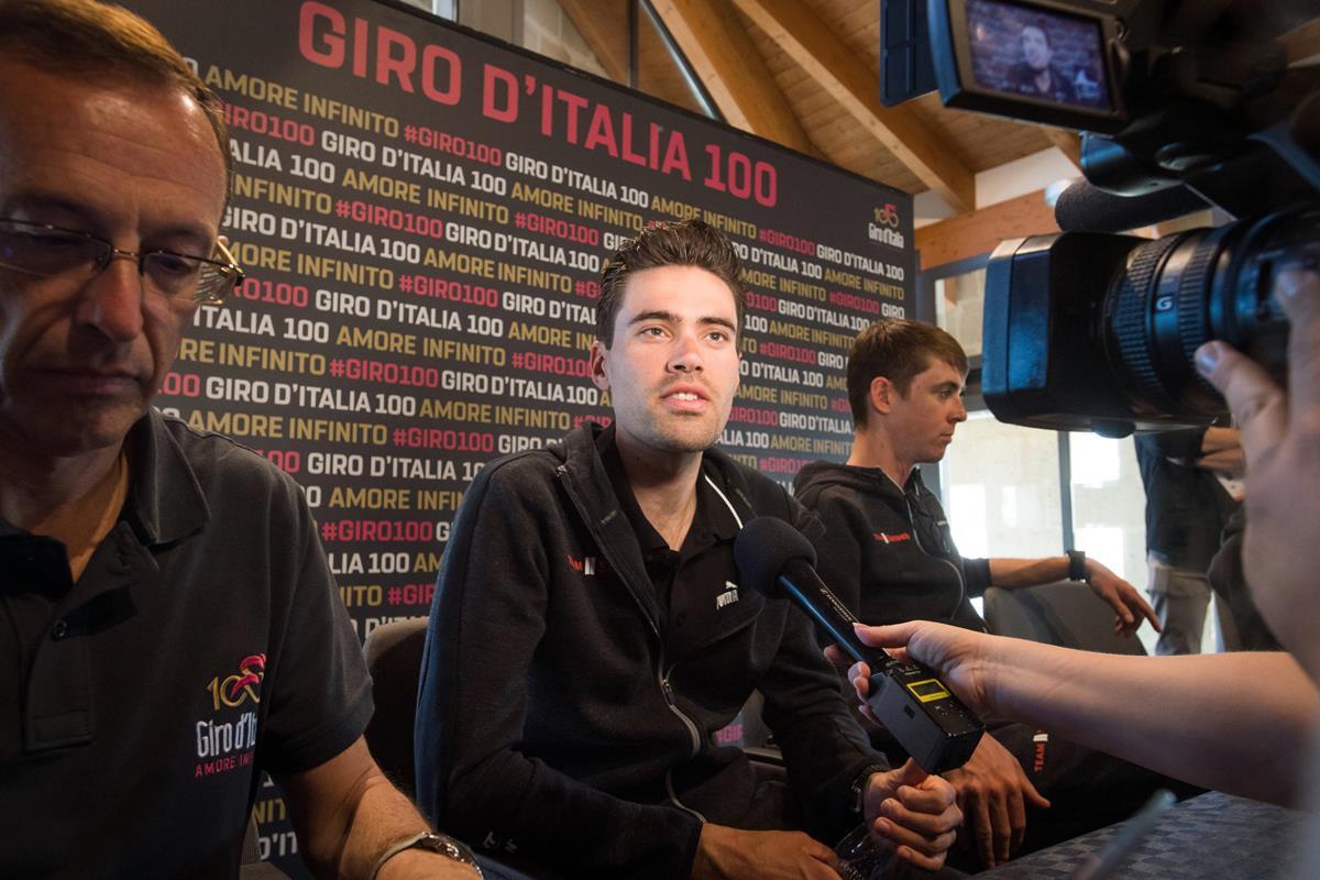 Tom Dumoulin in conferenza stampa pre Giro d'Italia 2017