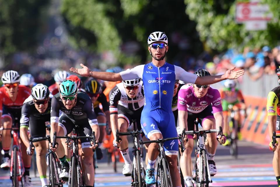 Fernando Gaviria vince la quinta tappa del Giro 100 a Messina