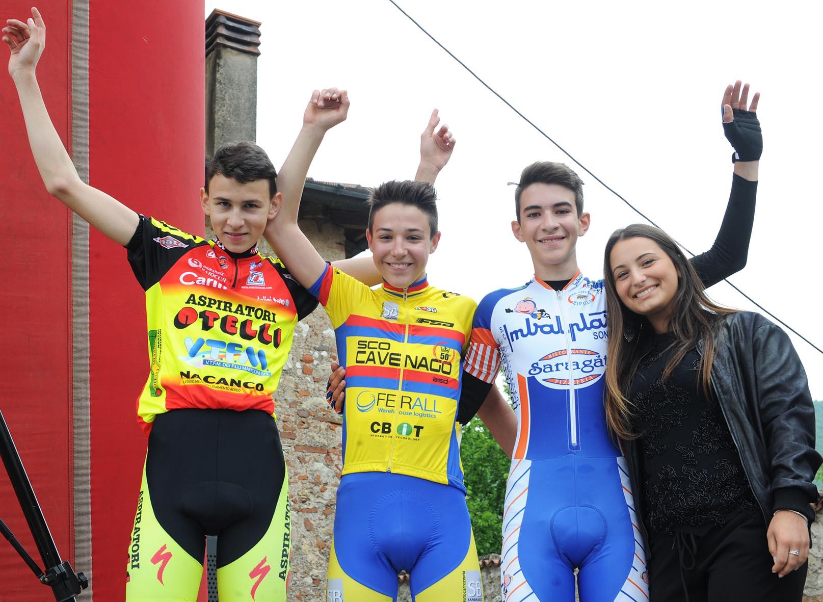 Il podio della gara Esordienti 1° anno di Ronco di Gussago
