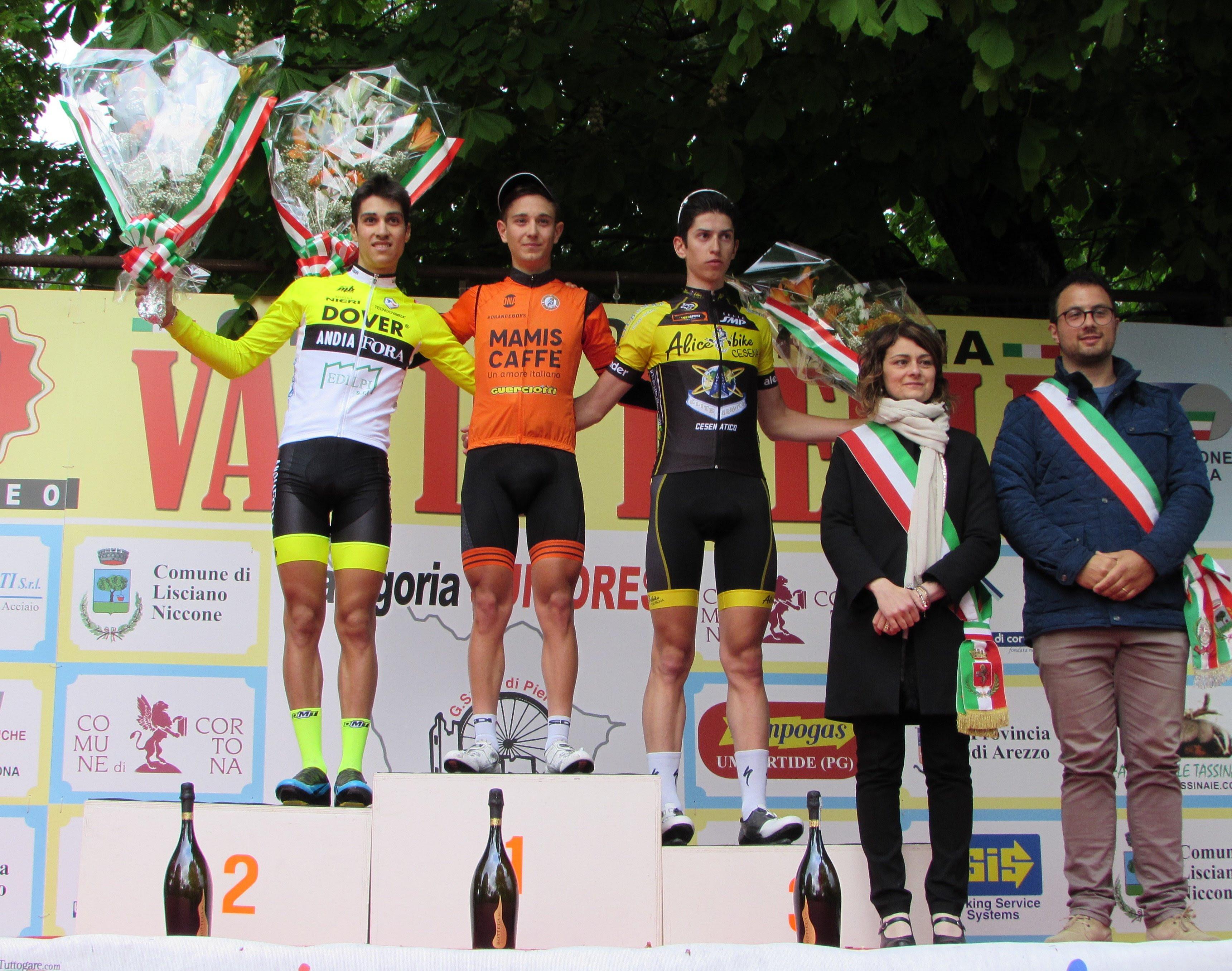 Il podio Allievi di Mercatale di Cortona