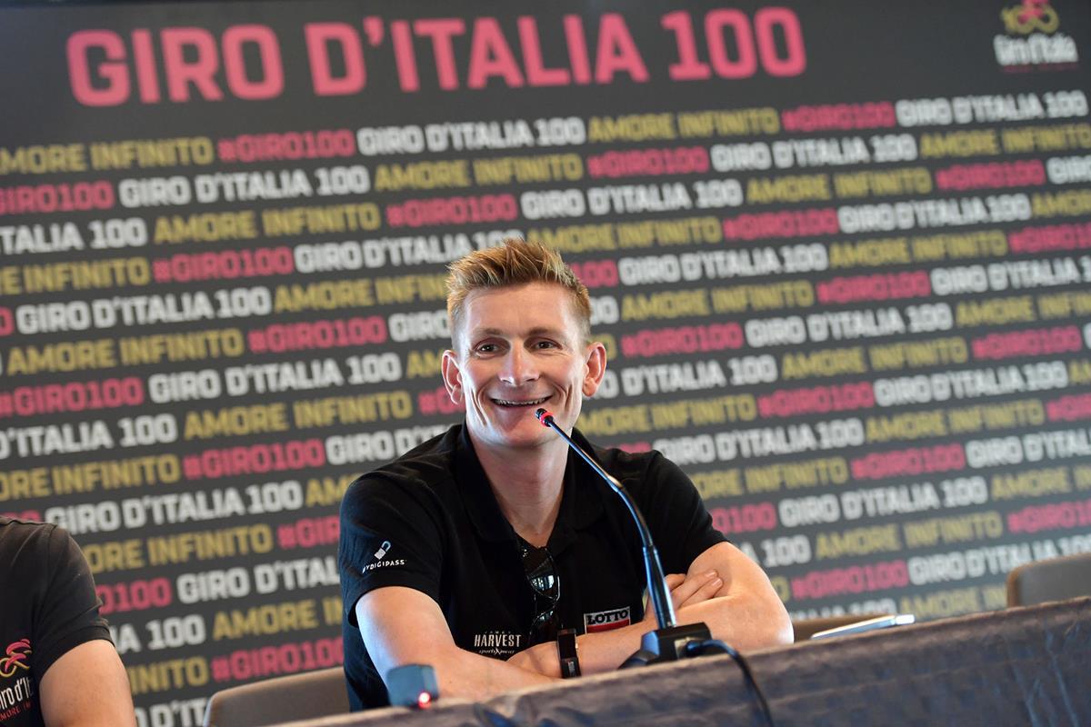 André Greipel in conferenza stampa pre Giro d'Italia 2017