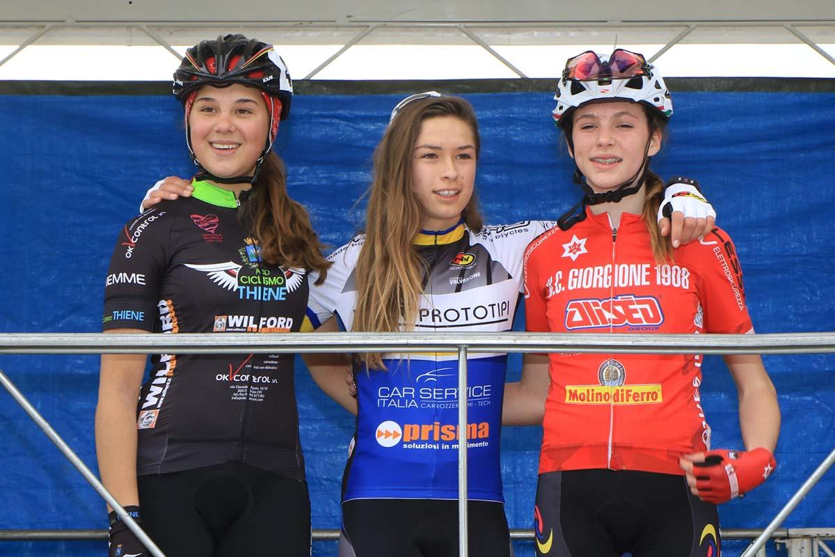 Il podio Donne Esordienti 1° anno di Egna