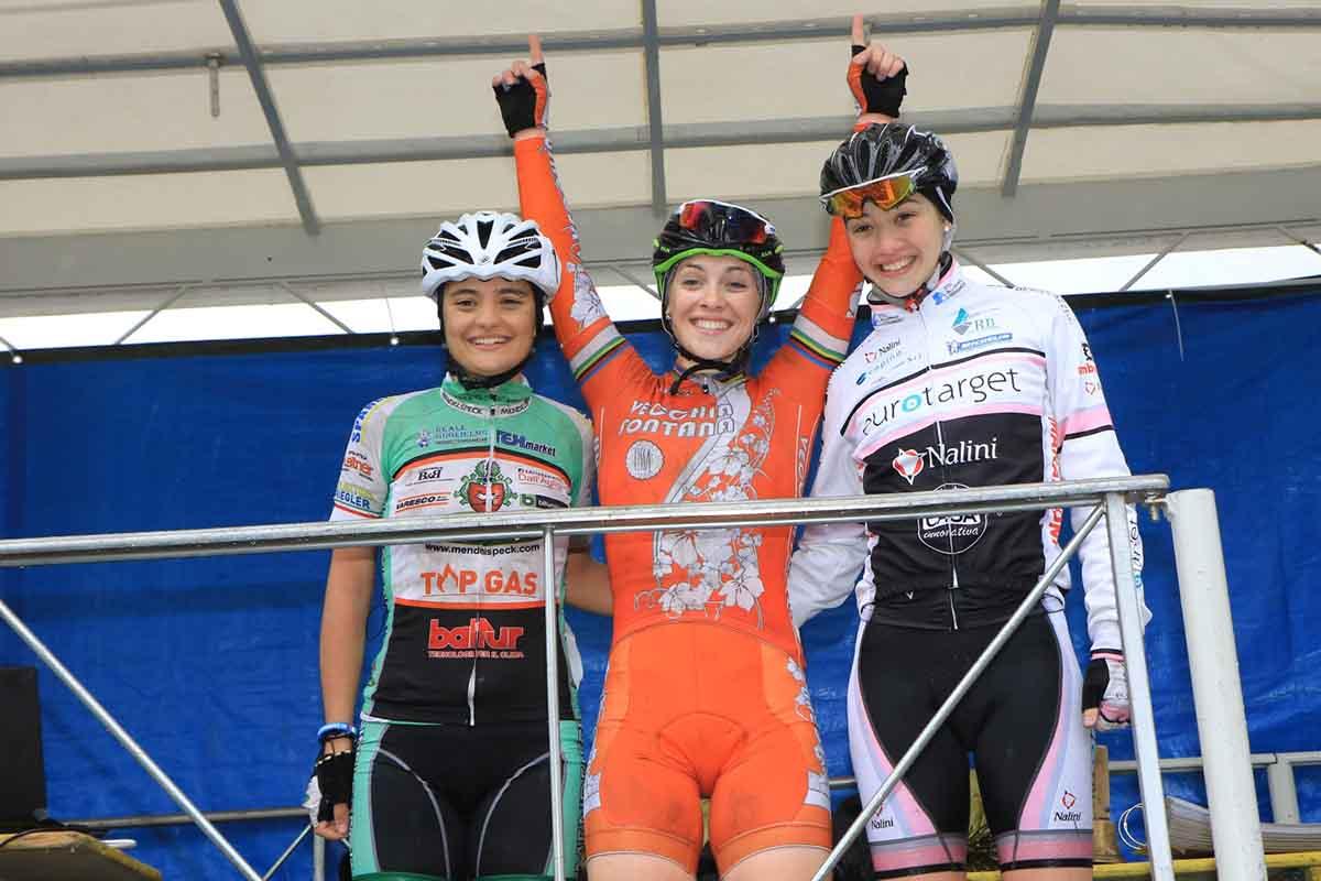 Il podio del Donne Junior del 10° Trofeo Mendelspeck