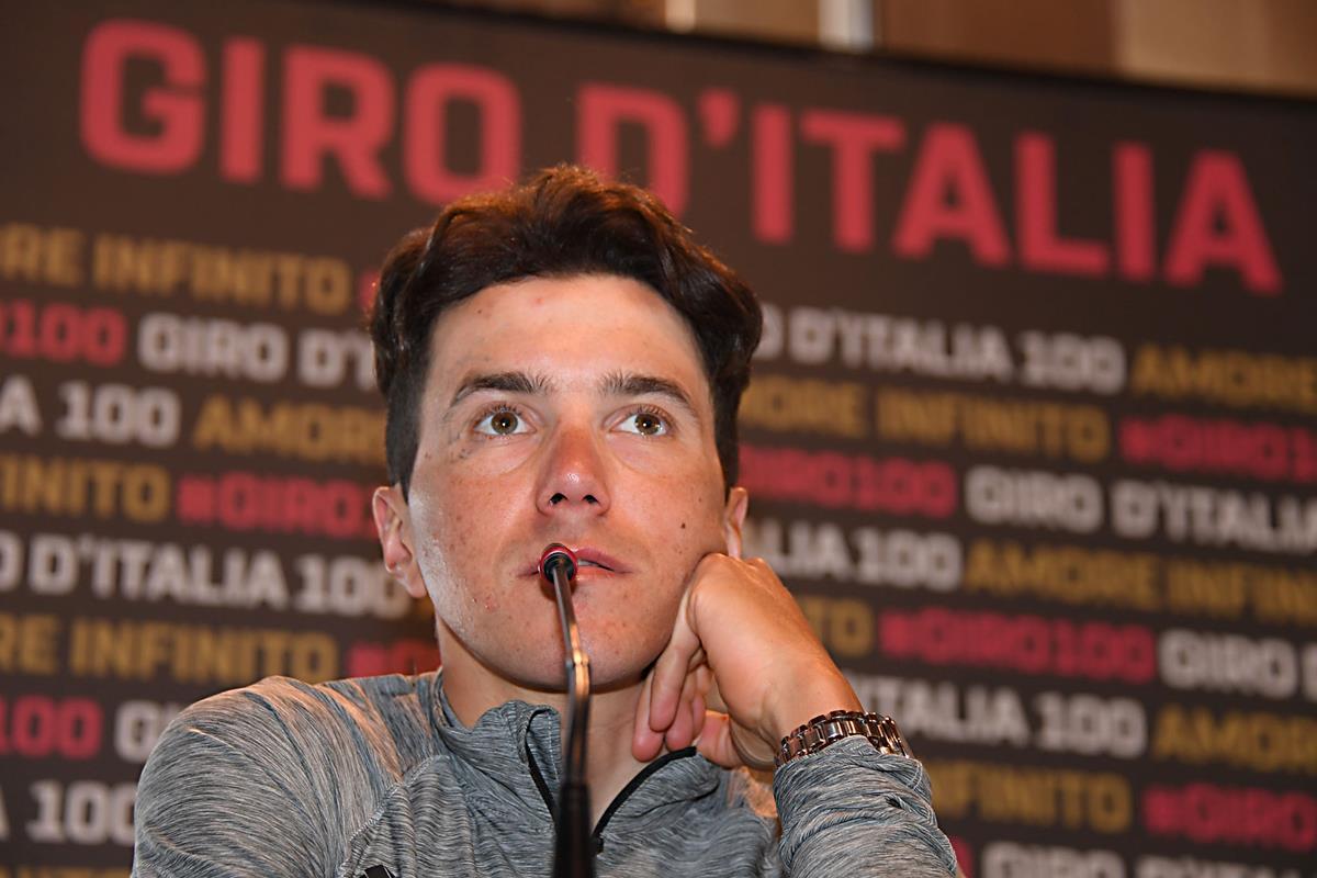Domenico Pozzovivo in conferenza stampa pre Giro d'Italia 2017