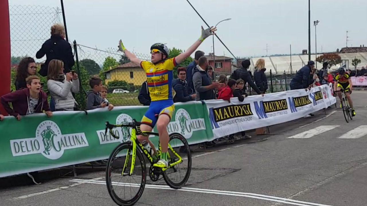 La vittoria di Gabriele Casalini tra gli Esordienti 1° anno a Ronco di Gussago