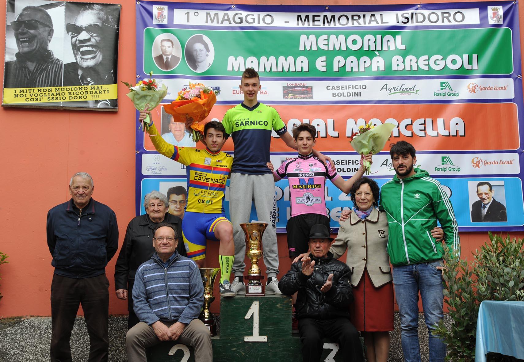 Il podio Esordienti 2° anno del Trofeo Zio Bigio Trofeo Lorenzo a.m.