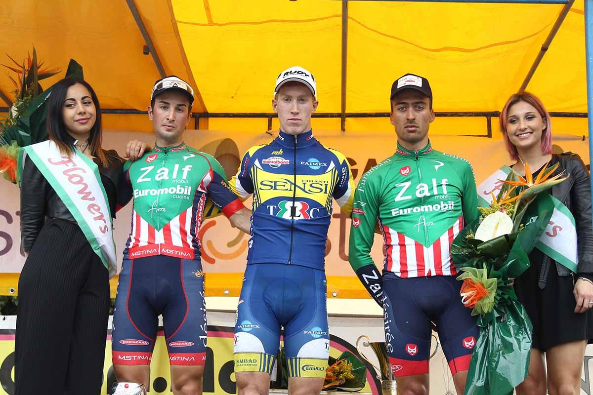 Il podio del 18° Trofeo Menci S.p.a.a Castiglion Fiorentino, vinto da Mirco Sartori