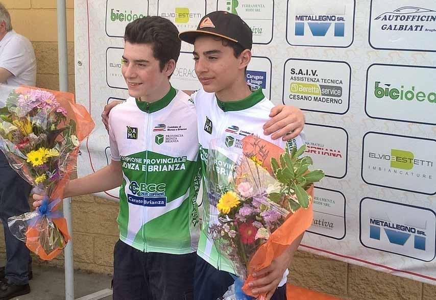 Yuri Carroni e Gabriele Tagliani campioni provinciali di Monza e Brianza tra gli Esordienti