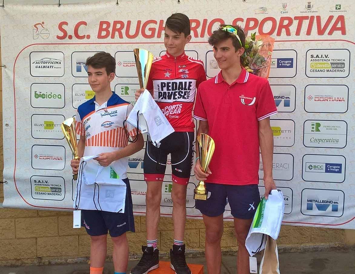 Il podio Esordienti 2° anno di Brugherio