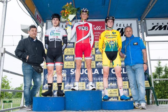 Il podio della gara Allievi di Zola Predosa