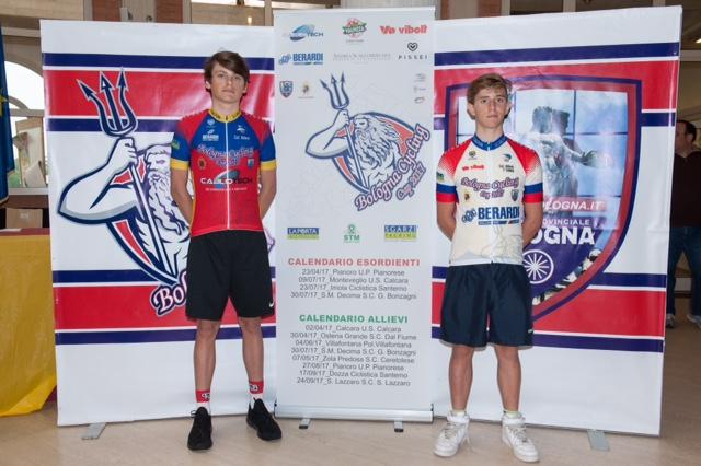 Vojislav Peric e Andrea Ostolani, leader della Bologna Cycling Cup dopo la prova di Zola Predosa
