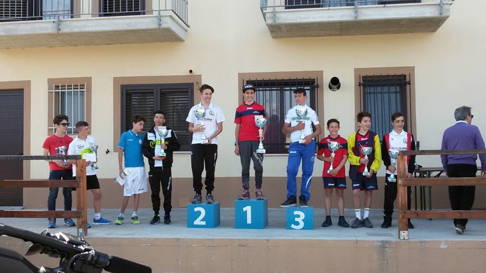Il podio della gara Esordienti 2° anno di Guarenna di Casoli vinta da Lorenzo Masciarelli