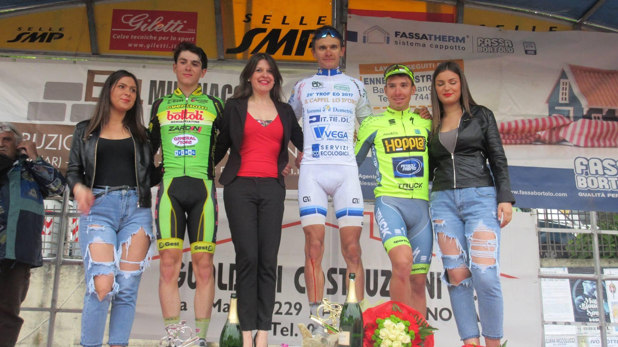 Il podio del 4° Trofeo Learco Guerra vinto da Riabushenko