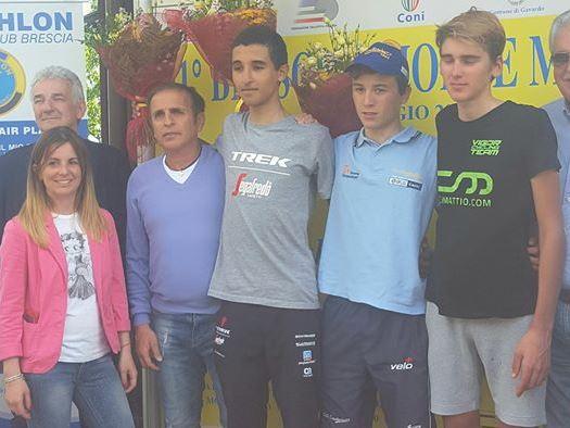 Il podio della Brescia-Montemagno 2017