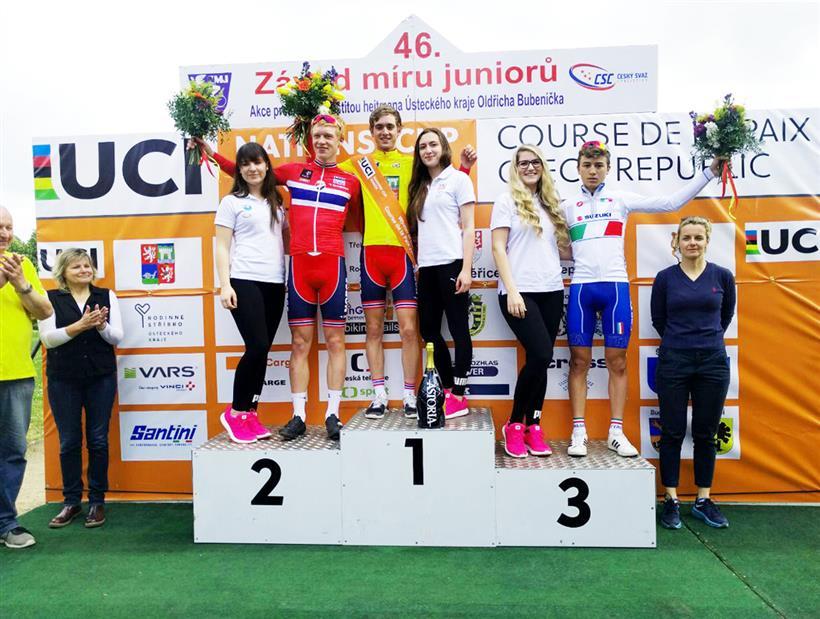 Il podio finale della Corsa della Pace Juniores 2017