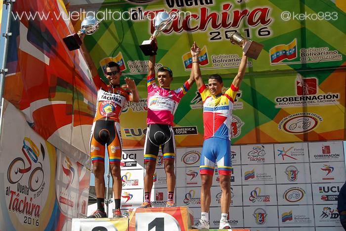 Luis Mora sul podio della Vuelta al Tachira