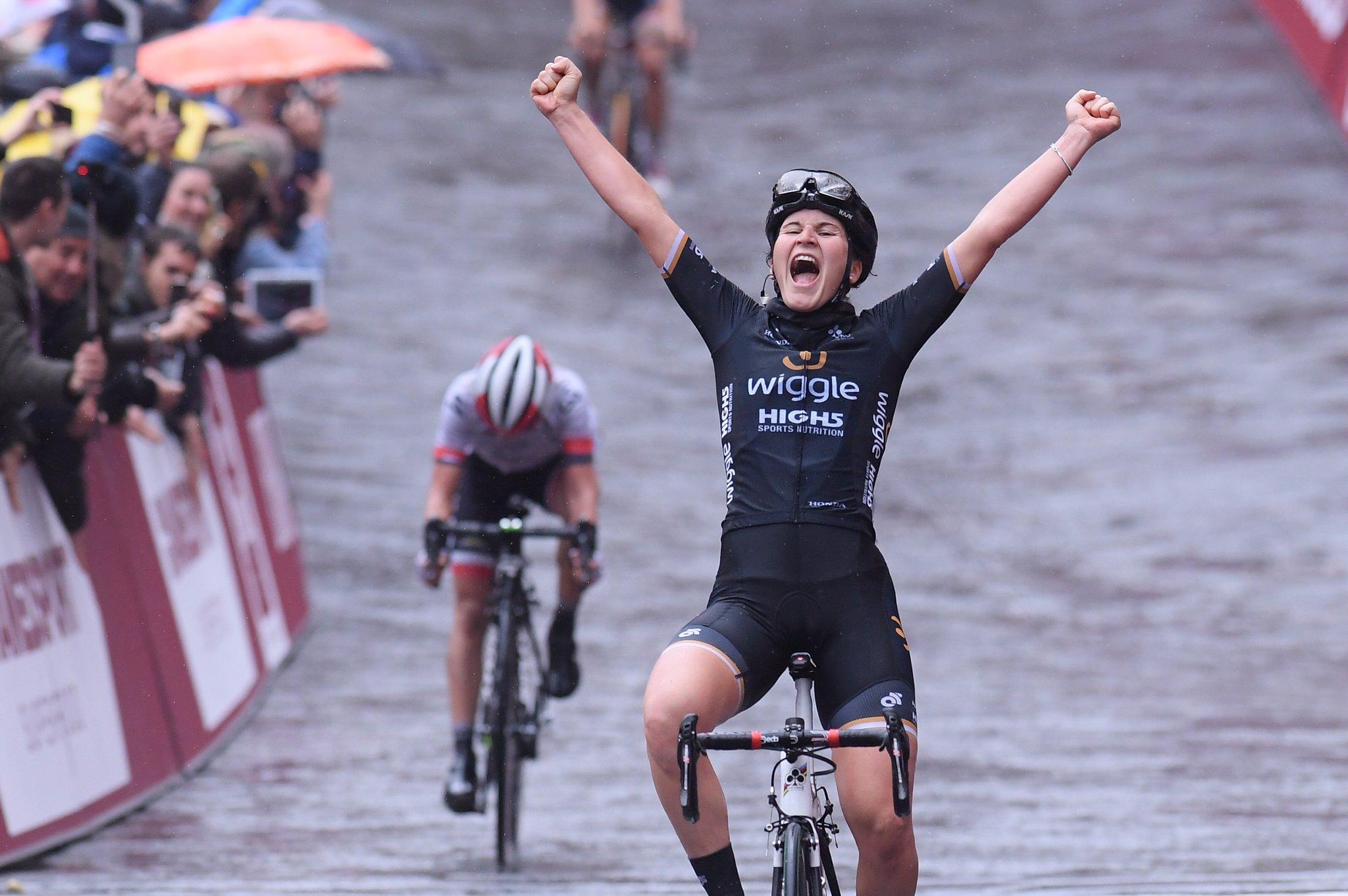 Elisa Longo Borghini vince la Strade Bianche 2017