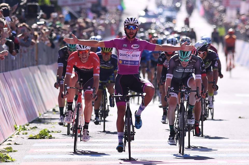 Fernando Gaviria vince la tappa 13 del Giro d'Italia