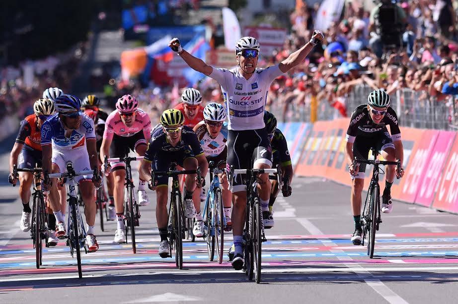 Bob Jungels vince a Bergamo la quindicesima tappa del Giro 100