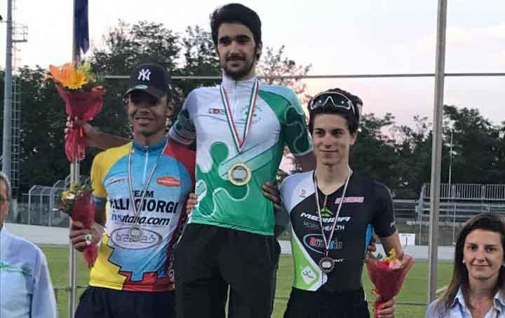 Il podio del Campionato Lombardo Juniores Keirin