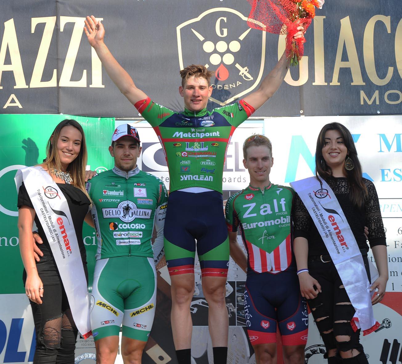 Il podio del Trofeo Città di Castelfidardo