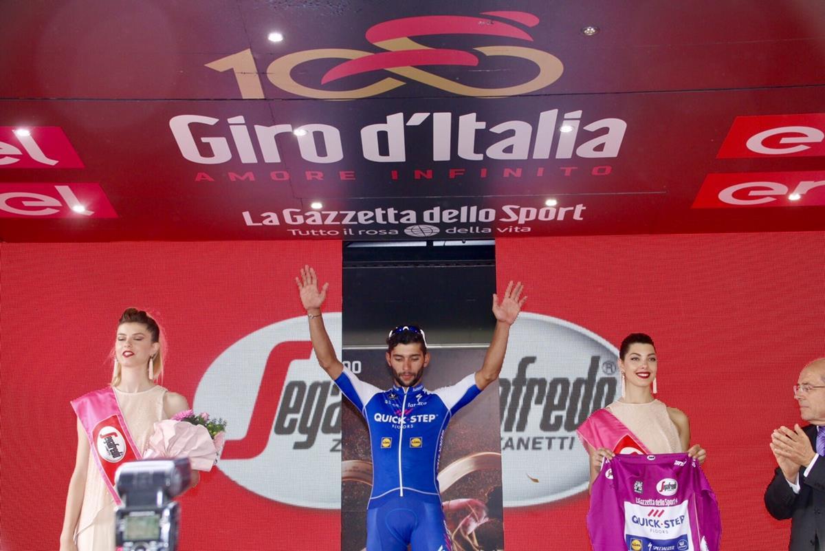 Fernando Gaviria vincitore della 12/a tappa del Giro 100