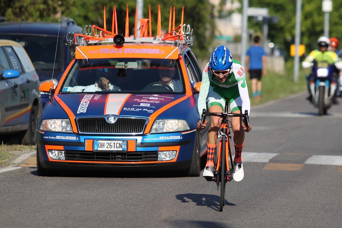 Andrea Piccolo vince la cronometro di Romanengo per Allievi
