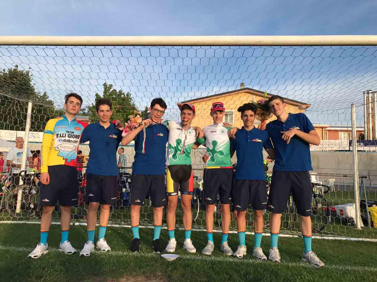 Gli allievi del Team Giorgi festeggiano due titoli lombardi in pista