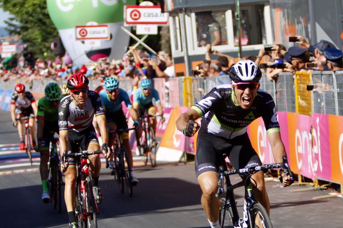 Omar Fraile vince l'undicesima tappa del Giro 100