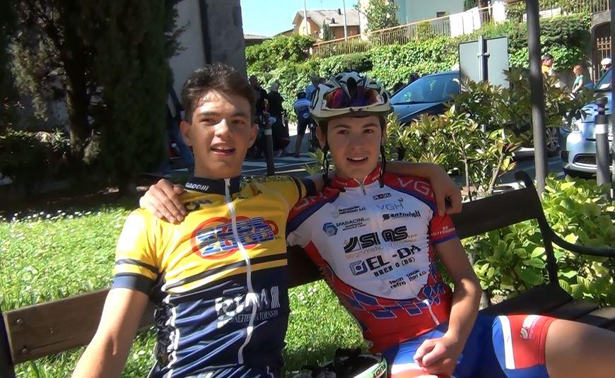 Walter Calzoni e Luca Cretti dopo l'arrivo