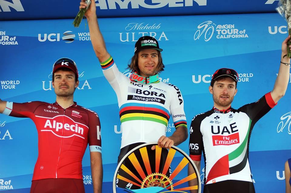 Il podio della terza tappa del Tour of California 2017