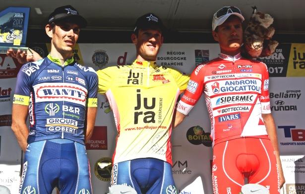 Il podio finale del Tour du Jura 2017